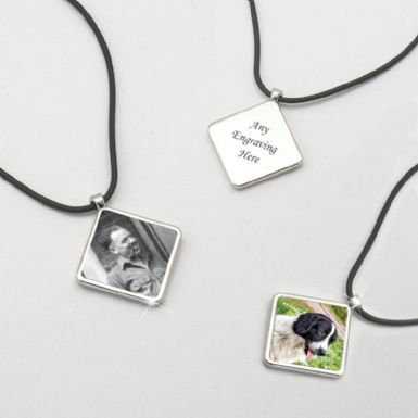 Memorial Necklace with Photo & Engraving | Someone Remembered